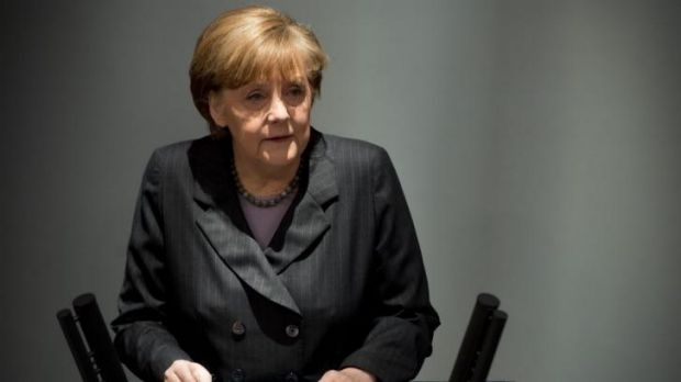 Warning ... German Chancellor Angela Merkel says that the EU will impose more sanctions on Russia.