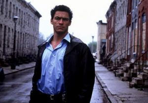 Dominic West as James 'Jimmy' McNulty in <i>The Wire</i>.