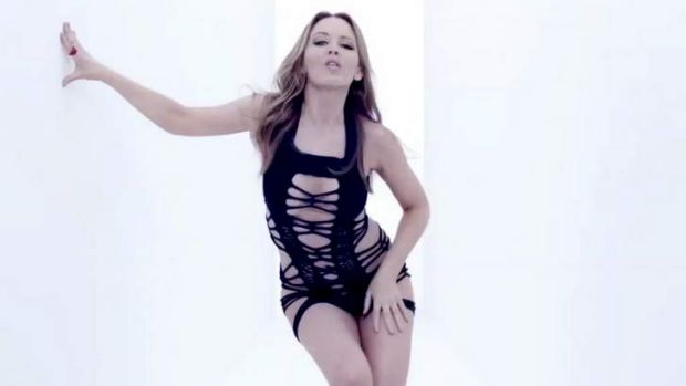 Sex sells ... Kylie Minogue has just released a 'sex workout' video for her latest single.