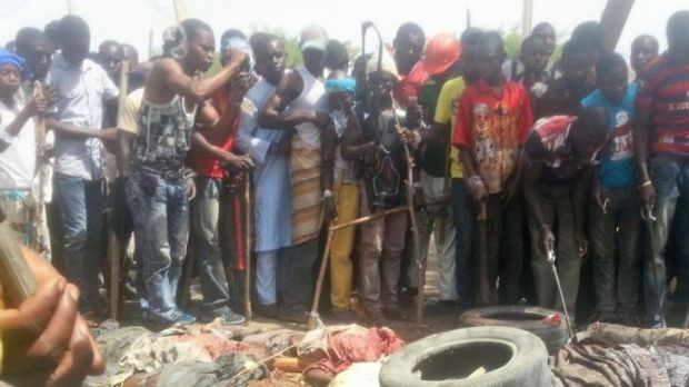 Doubt over deaths: the aftermath of the alleged jailbreak attempt at Giwa Barracks in Maiduguri, Nigeria, on March 14.