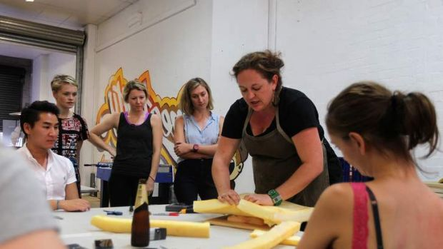 Hands-on: The upholstery workshops in Redfern are run by Maaike Pullar.