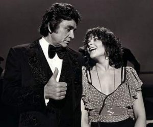 Cash and co: Rosanne Cash draws inspiration from her father Johnny's history. The pair  in 1978.