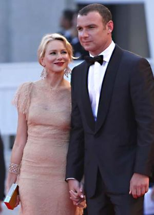 On the guest list: Naomi Watts and husband Liev Schreiber.