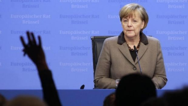 Talking tough ... German Chancellor Angela Merkel says 'there is no G-8' under the current political circumstances.