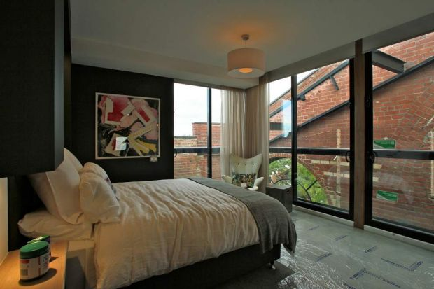 Bedroom interior design by contestants Steve and Chantelle.