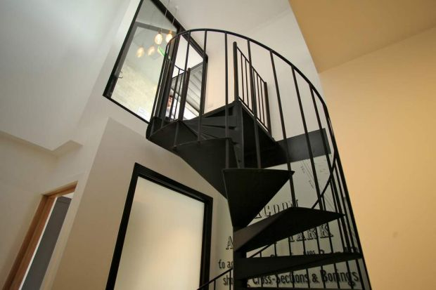 Steve and Chantelle's spiral staircase.