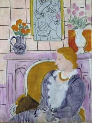 Returned: <i>Woman in Blue in Front of a Fireplace</i> circa 1937 by Henry Matisse.
