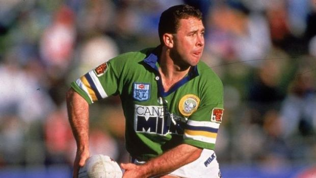 Ricky Stuart during his playing days at the Canberra Raiders. The new Raiders head coach is trying to instill a sense of ...