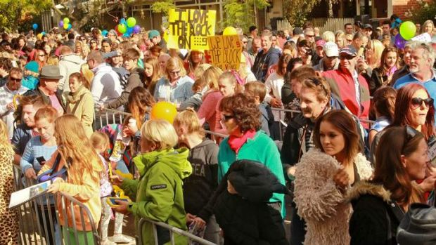 Fans at <i>The Block</i> open day.