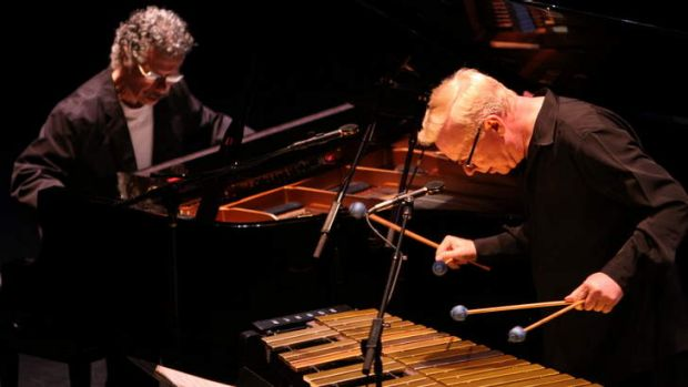 Chick Corea (left) and Gary Burton.