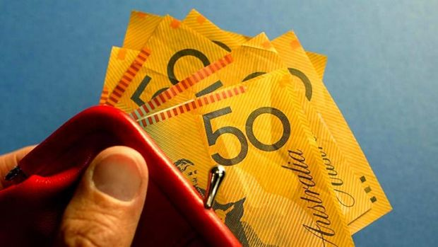 Widest gap yet: The latest increases boost the pension by $14.30 a fortnight and Newstart by $9.50 a fortnight.
