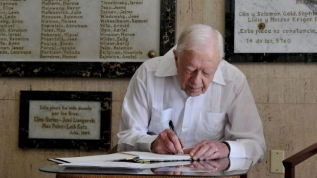 Former US president Jimmy Carter says he avoids email to keep correspondence away from prying eyes.