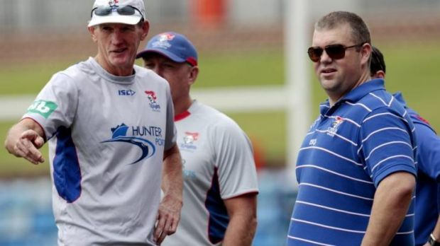 Tinkler with his star recruit, coach Wayne Bennett.