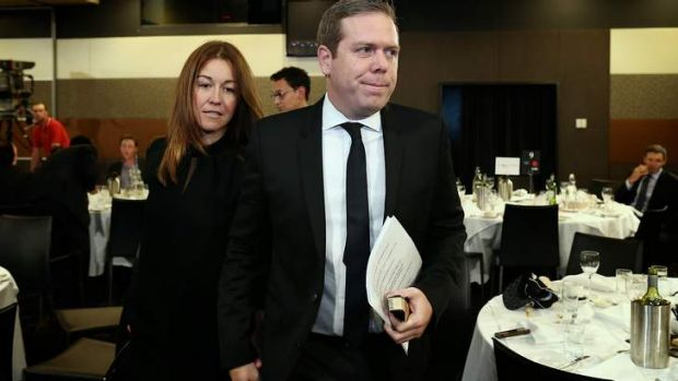 Paul Howes with his fiancee Olivia Wirth.