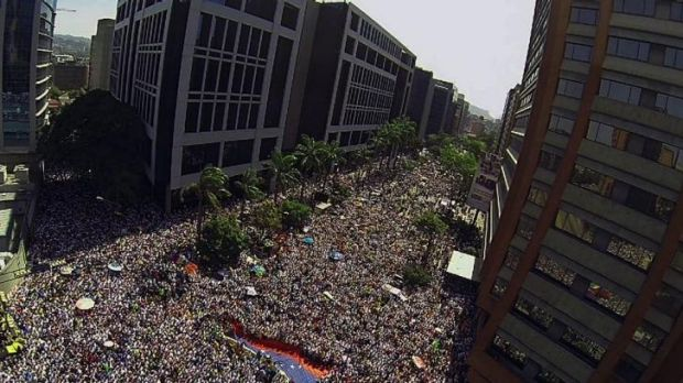 An anti-government protest in Caracas on March 22.