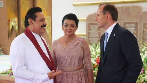 Australia must look beyond short-term complications of its relationship with Sri Lanka: Prime Minister Tony Abbott with ...