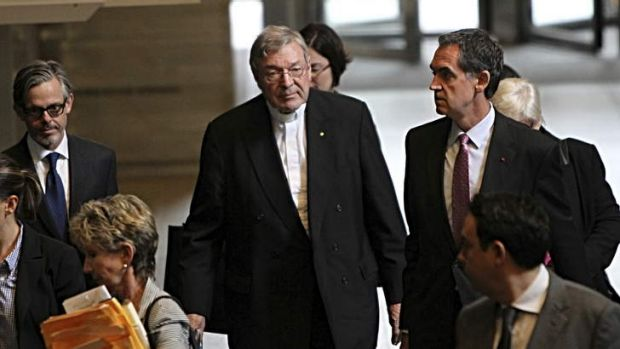 Evidence: Cardinal George Pell leaves the royal commission.