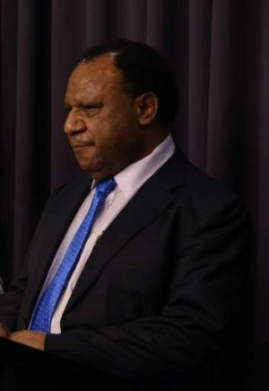 """""""In partnership"""" with Australia: Papua New Guinea's Immigration and Foreign Affairs Minister Rimbink Pato."""