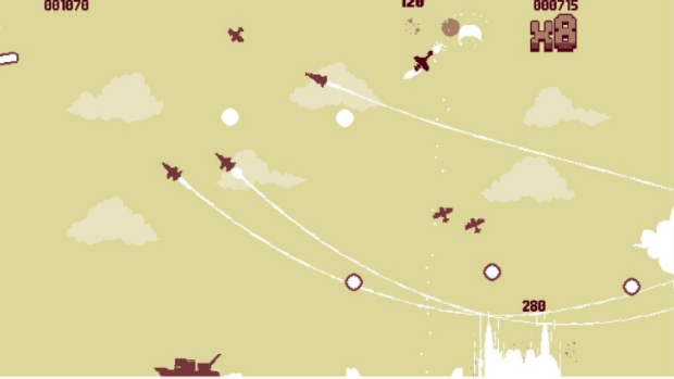 Luftrausers is fast, fun, and furious, and strangely beautiful with its limited sepia palette.