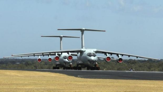 Two Chinese Ilyushin IL-76s aircraft involved in the search for debris from Malaysia Airlines flight MH370.
