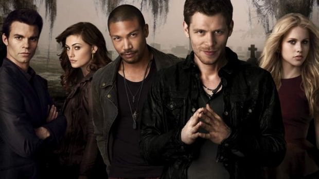 Claire Holt (far right) takes leave from vampire series <i>The Originals</i>, which co-stars fellow Australian Phoebe ...