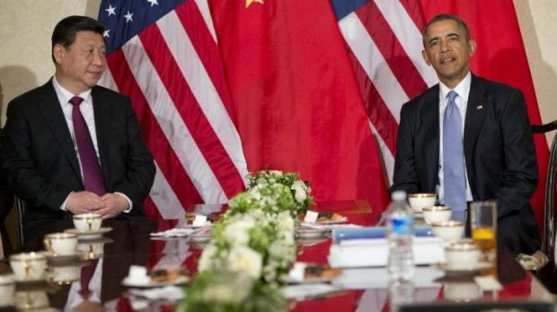 President Barack Obama participates in a bilateral meeting with Chinese President Xi Jinping at the US Ambassador's ...