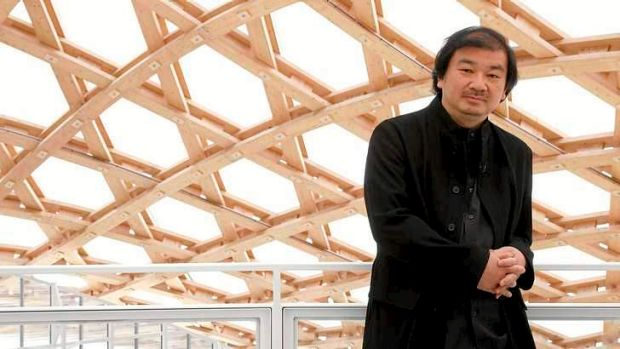 Winning work: Ban poses during a visit to the Centre Pompidou-Metz museum in the city of Metz, France.
