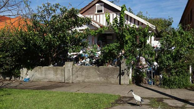 Residents of the Boonara Road house in Bondi tried to stop the clean up.