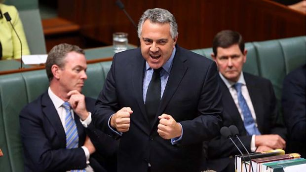 "Treasurer Joe Hockey tells question time that the mining tax has been ""an unmitigated disaster""."