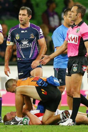 Aftermath: Alex McKinnon of the Knights.