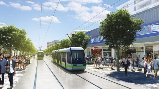 ON TRACK: An artist's impression of the ACT light rail.