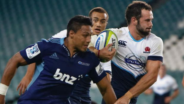 Big shoes to fill: Jono Lance replaces Israel Folau for the Waratahs.