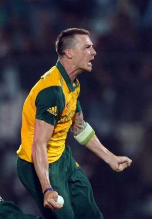 Dale Steyn celebrates South Africa's victory in Chittagong.
