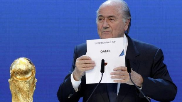 FIFA President Sepp Blatter makes the announcement in Zurich in 2010.