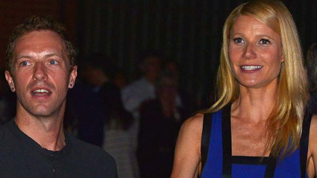 Split: Chris Martin and actress Gwyneth Paltrow, pictured here on January 28 this year.