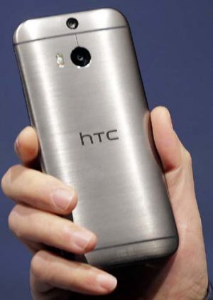 The HTC One (M8) features a metal finish.