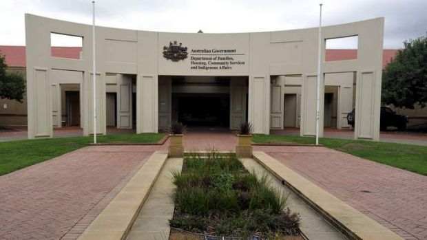 The Tuggeranong Office Park building in 2011, when the Department of Social Services was the Department of Families, ...