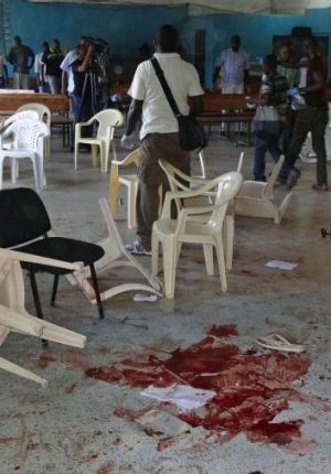 Terror: the bloody aftermath of the March 23 massacre at a church in Mombasa, Kenya, in which four people were killed ...