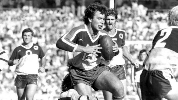 In full flight: Farragher, playing against Cronulla in 1978, said on Wednesday that he hopes Alex McKinnon makes a full ...