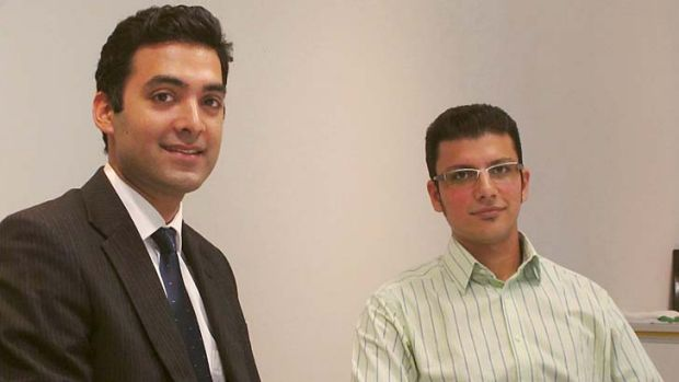 PhD students Ashkan Heidarkhan Tehrani (left) and Pooya Davari have developed a method of sterilising human tissue for ...