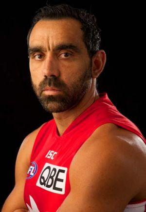 Not happy: Australian of the Year Adam Goodes.
