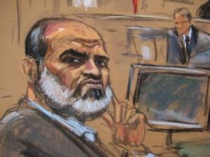 Court sketch of Sulaiman Abu Ghaith.