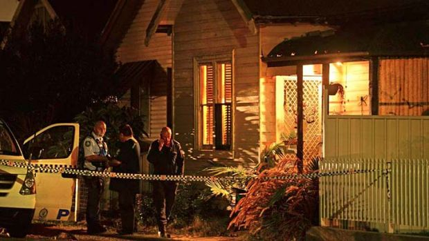 Mystery: police cordoned off the dead man's home.