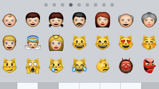 Diversity questioned: Some of the current emoji icons on offer.