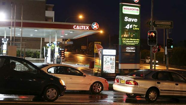 The service station where one of the men was found shot.