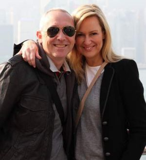 Doyle with her husband John Dunlop in Hong Kong in January this year.