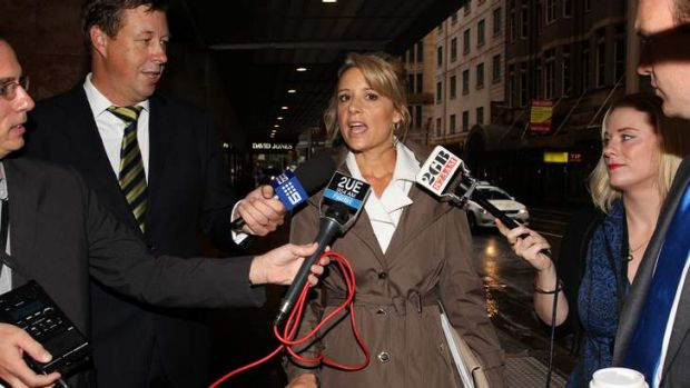 Witness Kristina Keneally, the former Premier of NSW, arrives at ICAC on Thursday.