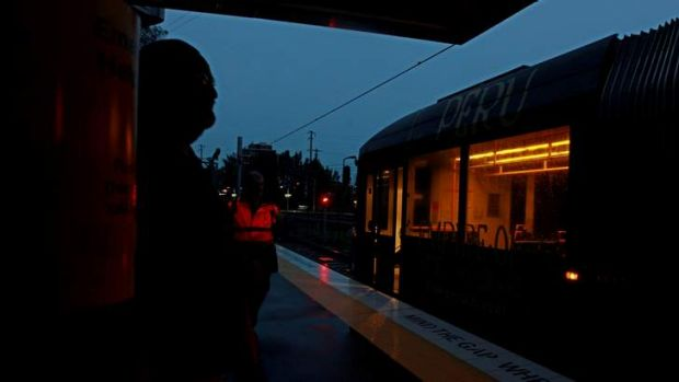 Early morning scenes at Dulwich Hill station.