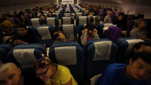Passengers on Malaysia Airlines MH318 flight from Kuala Lumpur to Beijing.