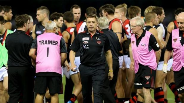Some of the Bombers' play during its round-one win against North Melbourne reminds Alastair Clarkson of Mark Thompson's ...